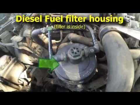 Diesel Fuel Filter Replacement, 2.0HDI, ... Xsara Picasso