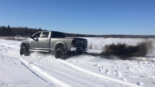 getlinkyoutube.com-Lifted Cummins Pulls Out Stuck Duramax