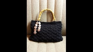 getlinkyoutube.com-CROCHET How to #Crochet Splatter Stitch Handbag Purse with Hand Sewn Liner #TUTORIAL #117