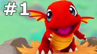 DragonVale World Gameplay Part 1 - Fire Dragon!
