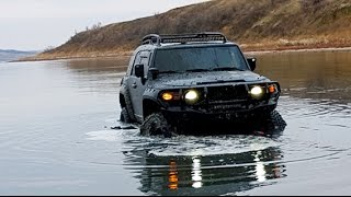 getlinkyoutube.com-Toyota FJ Cruiser, Jeep Wrangler, Nissan Pathfinder, Hyundai Galloper, off road, 4х4
