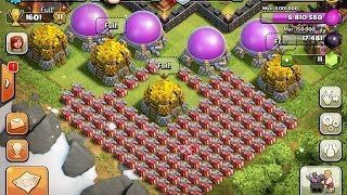 getlinkyoutube.com-Clash of Clans: Santa Strike +500k Elixir/ full storage 15 Million