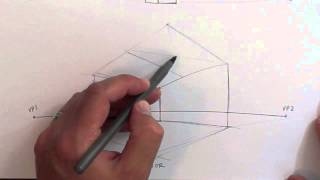 getlinkyoutube.com-Drawing Tutorial - 2 Point Perspective - Interior Exterior