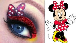 getlinkyoutube.com-Disney's Minnie Mouse Makeup Tutorial