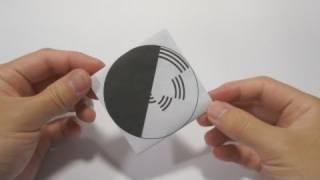 getlinkyoutube.com-Optical Illusion - Benham's Disk using origami Spinning Top