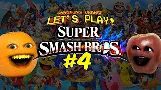 getlinkyoutube.com-Super Smash Bros #4: Annoying Orange vs Midget Apple - PikAH-CHOO!