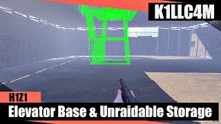 getlinkyoutube.com-Base Building: Elevator Base & Unraidable Storage | H1Z1