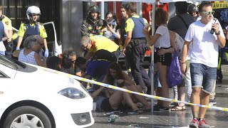 (video) Of the Aftermath of Barcelona Spain van attack