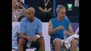 getlinkyoutube.com-Federer & Borg vs Blake & McEnroe - Kuala Lumpur