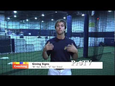 Baseball Coaching Tips 101 - How to Give Signs (L.L. / Modified / H.S.)