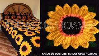 getlinkyoutube.com-muestra # 16 girasol para colcha a crochet video 1