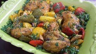 صينية الدجاج بالخضروات جديد - منال العالم