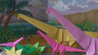 getlinkyoutube.com-Origami adventure part 5: Dinosaurs (brachiosaurus)