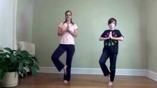 getlinkyoutube.com-5 Minute yoga break - Breath of Joy, Milkshake, 1 minute Tree Pose Challenge