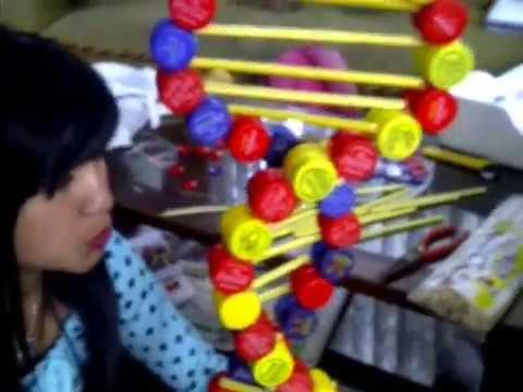 Como elaborar una maqueta de ADN con materiales reciclados