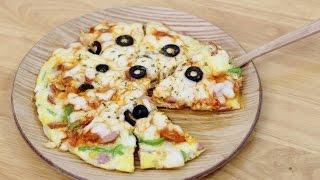 getlinkyoutube.com-고급진 풍미를 자랑하는 계란요리♥NO밀가루 계란피자 만들기 no dough homemade pizza recipe [램블]