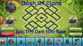 getlinkyoutube.com-Clash Of Clans-Epic New TH9 Dark Elixir Farming Base(MASTER BASE)