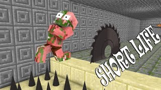 Monster School : SHORT LIFE CHALLENGE - Minecraft Animation