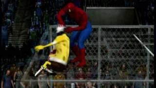 getlinkyoutube.com-DeZmonD's SVR10 Caws - Spiderman vs Spongebob