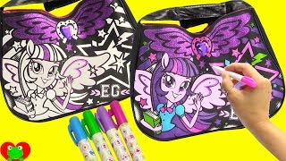 getlinkyoutube.com-My Little Pony Twilight Sparkle Purse Coloring and Design with Surprises
