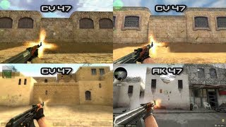 getlinkyoutube.com-COMPARISONS ALL GUNS: CS:1.6 - CS:CZ - CS:S - CS:GO - [HD]