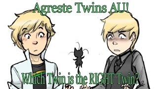 [Miraculous Ladybug Comic Dub] Agreste Twins AU!   Which Twin is the RIGHT Twin?