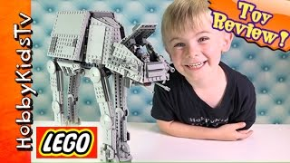 getlinkyoutube.com-Lego Star Wars AT-AT Walker 75054 Build and Play by HobbyKidsTV