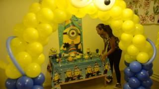 getlinkyoutube.com-como decorar una fiesta de minions