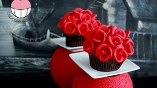 getlinkyoutube.com-ROSE CUPCAKES! Make Rose Flower Bouquet Cupcakes - A Cupcake Addiction How To Tutorial