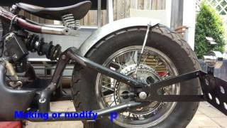 "R&R BOBBERS VT600 conversion into a bobber ""Russian Gold"""