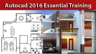 getlinkyoutube.com-AutoCAD Architectural house 2d plan Tutorial For beginners