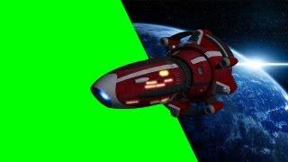 getlinkyoutube.com-Spaceship Argonaut Fly By - free green screen