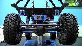 getlinkyoutube.com-Axial SCX10 4x4 Truck- Basic Front End Steering Improvments