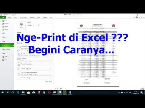 Cara Print Cepat Di Excel