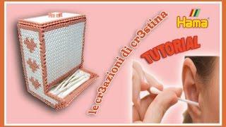 getlinkyoutube.com-Dispenser Cotton Fioc/Caramelle con HAMA BEADS/Pyssla/Perler beads - Porta Cottonfioc Tutorial