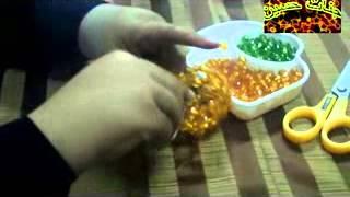 طريقة عمل البرتقالة بالخرز مع جنات حسين