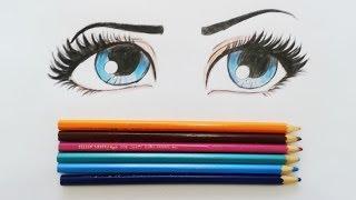 getlinkyoutube.com-Tutorial-Como desenhar e pintar olhos