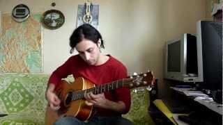getlinkyoutube.com-Blue Bossa - Gypsy Jazz Style Guitar