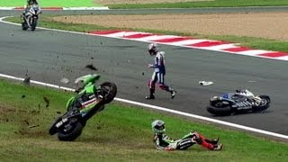getlinkyoutube.com-Best of Crash World Superbike Magny-Cours