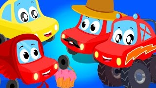 Little Red Car | vehicle songs for children | nursery rhymes compialtion