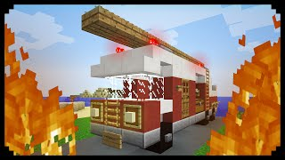 getlinkyoutube.com-✔ Minecraft: How to make a Fire Truck