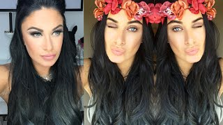 getlinkyoutube.com-How To - Ombre Blue Grey hair - Bellami Lilly hair