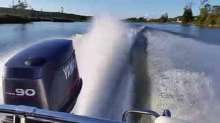getlinkyoutube.com-Yamaha outboard power 90 hp WOT  ( Wide Open Throttle )