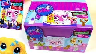 getlinkyoutube.com-Blind Bag HAUL Littlest Pet Shop Paint Splashin BOX case Part 1 LPS toy review opening
