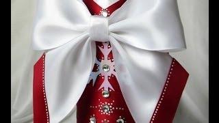 getlinkyoutube.com-Красивые банты из атласных лент. Мастер-класс. How to make a bow of ribbons