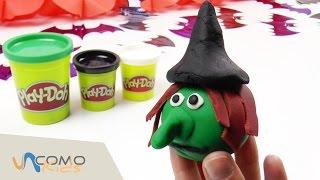 getlinkyoutube.com-Bruja con plastilina Play Doh - Play Doh HALLOWEEN