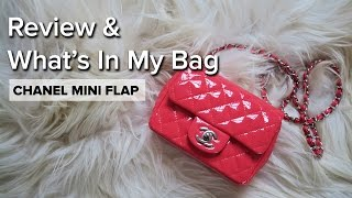 getlinkyoutube.com-Chanel Mini Flap Patent Coral Review