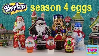 Surprise Eggs & Santas | Shopkins Season 4 Minecraft | Kinder Yowie | PSToyReviews