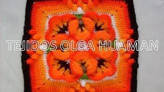 getlinkyoutube.com-muestra para colcha tejido a crochet  pensamiento pequeño, video 2