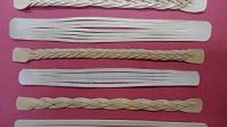 getlinkyoutube.com-Como hacer una trenza misteriosa de cinco cabos con cuero
